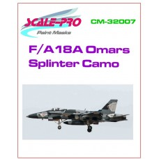 [SCALE-PRO] Máscara 032-07 F/A-18A Omar´s Splinter Camo Escala 1/32