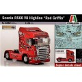 "[ITALERI] Scania R560 V8 Highline ""Red Griffin"" Escala 1/24"
