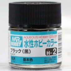 [GUNZE] Mr. Hobby Aqueous Hobby Color H2 Black 10ml
